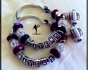 BALTIMORE RAVENS Jewelry inspired Bracelets necklaces