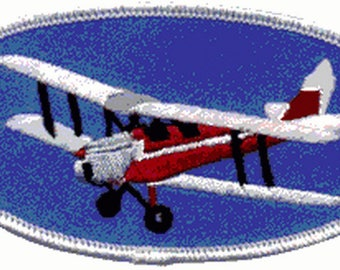 Aviation biplane Biplane Patch badge