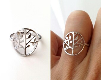 Tree of life ring, Silver 925/000 - silver ring 925 - symbol strength, life - many sizes - tree of life rings 925 sterling silver