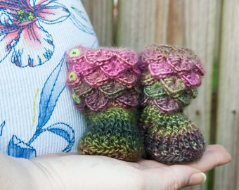 Crochet Baby Booties - Newborn Girl Slippers - Crochet Baby Shoes