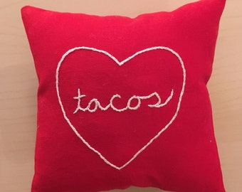 Tacos pillow, Gift Card Holder