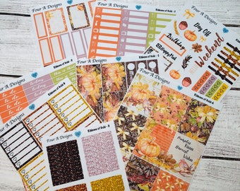 Ribbons Weekly Kit/ Erin Condren Stickers/ Planner Stickers/ Fall Stickers/ Fall Planner Stickers/ Planner Kit / Weekly Kit / Recollections