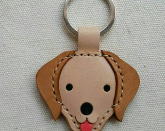 Handmade Golden Retreiver leather keyholder