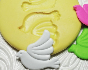 DOVE Bird Mold Flexible Silicone Rubber Push Mold Mould for Resin Wax Fondant Clay Fimo Ice 6867