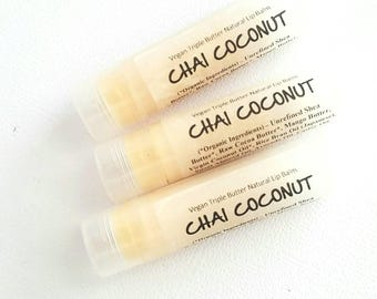 Chai Tea Coconut Milk Lip Balm. Vegan Lip Balm. Natural Lip Balm.