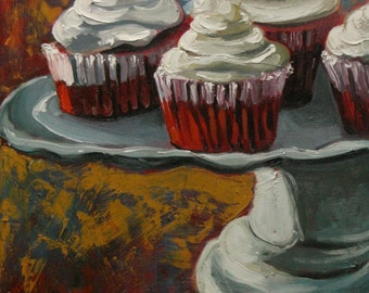 Cupcake 43 Print of oil painting by Roz  16x20 inch