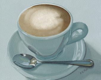 Coffee Print, Coffee Gift, Kitchen Wall Art, Coffee Decor, Coffee Art, Espresso Cup Art Print, Kitchen Decor, Coffee Cup Art Print, Giclee
