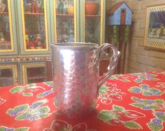 Vintage World hand forged aluminum pitcher