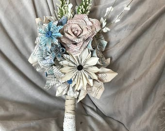 Book Page Flower Bouquet