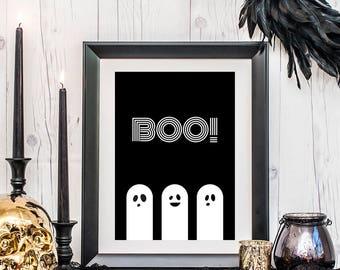 halloween printables, halloween posters, happy halloween wall art, modern halloween, halloween decor, printable art, downloadable prints