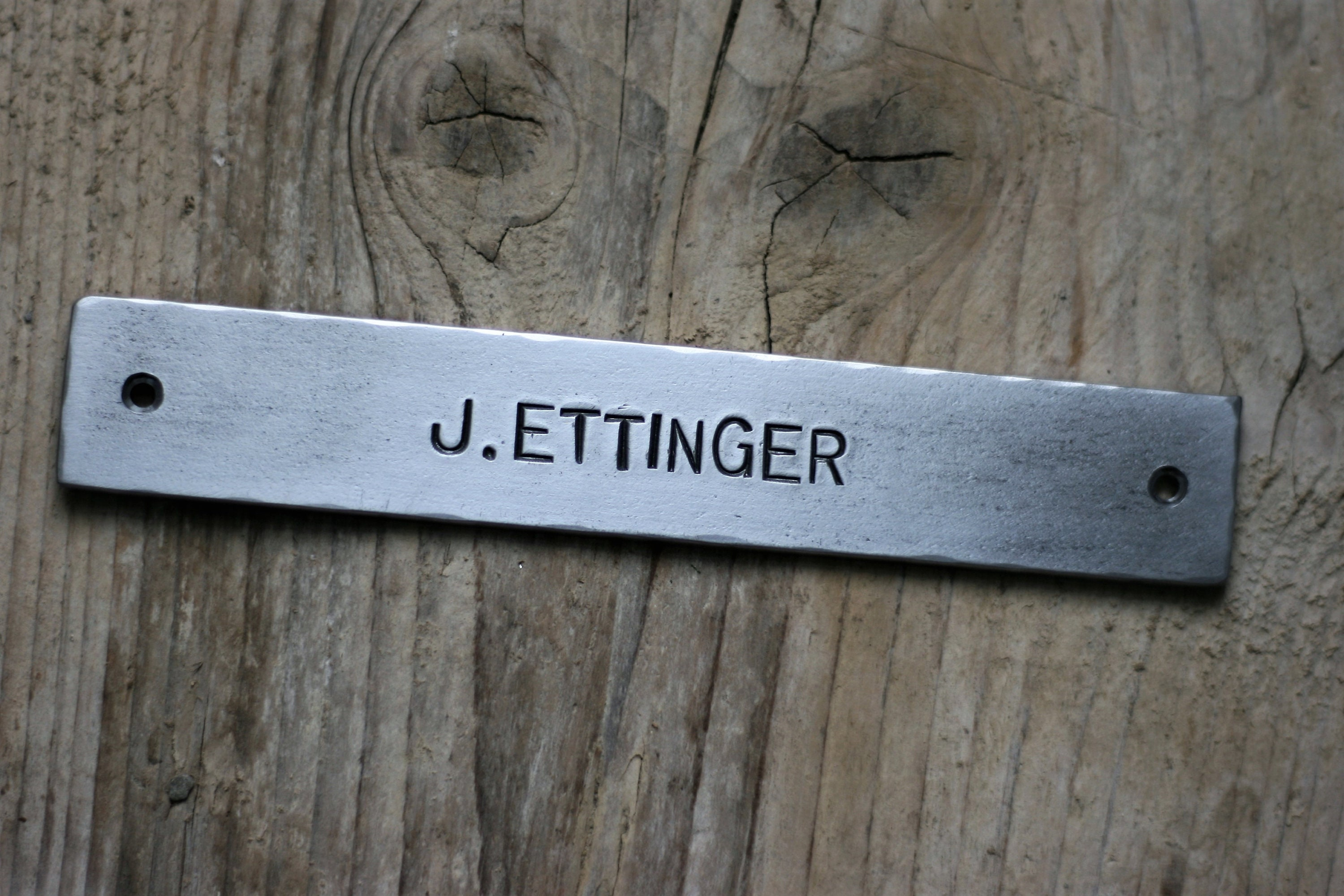 Attractive METAL WALL SIGN personalized steel name plate hand stamped steel  JC47