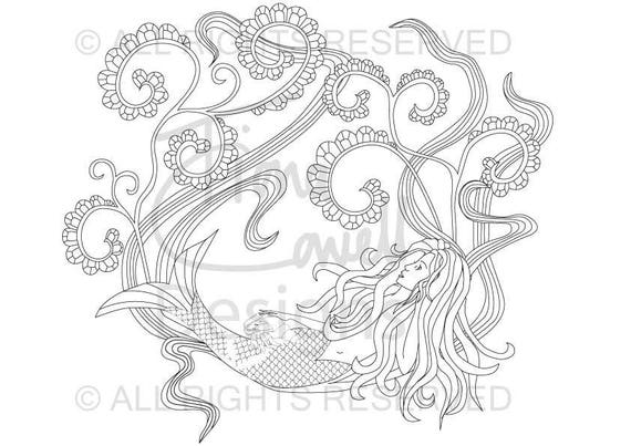 5 pages Letter size Sea Life Colouring Book 4