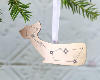Cetus Whale Constellation Metallic Christmas Tree Decoration|tree ornament|astronomy