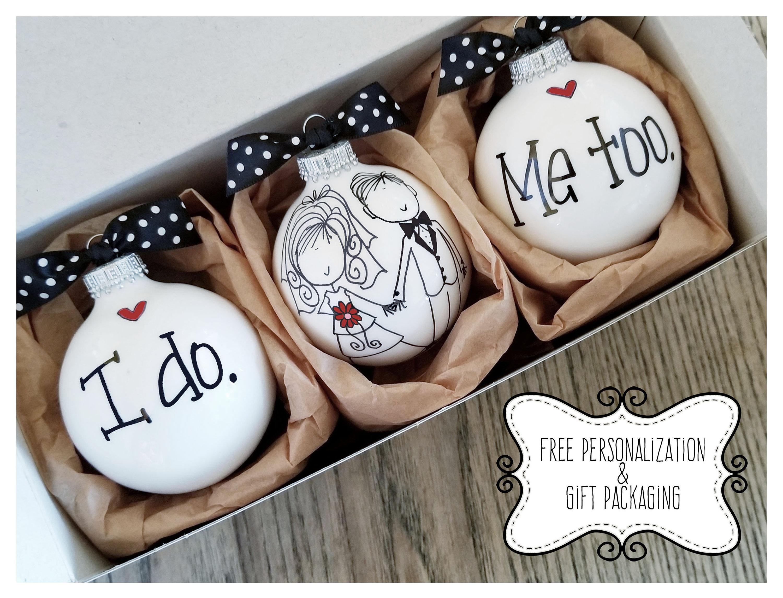 Wedding Gift Ornaments: Wedding Ornament Keepsake Wedding Gift Personalized Wedding