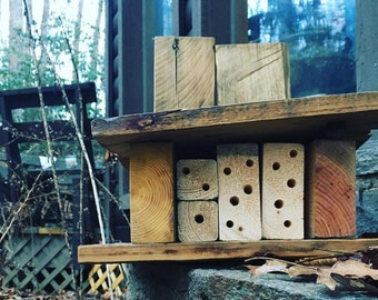 Mason Bee and Leafcutter Bee House - Native Bee Cabin
