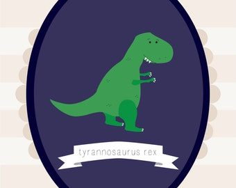 Customizable Dinosaur Nursery Print