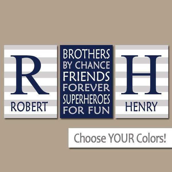 BROTHERS Wall Art Brothers Decor Boy Bedroom Decor Canvas