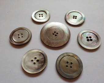 Antique Mother of Pearl Buttons, Jewellery, Sewing, Knitting, Steampunk! 1940s