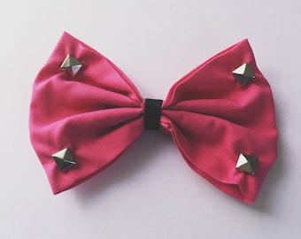 Pink Stud Bow