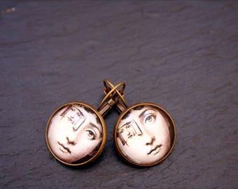 Tilly bloom portrait earrings
