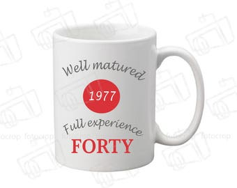 Personalized Coffee Mug Happy Birthday 40th  Women Men Original Gift 11oz NEW!