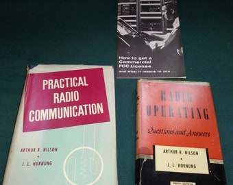 Vintage Books (Lot of 2) Practical Radio Communication & Radio Operating Questions and Answers J.L. Hornung