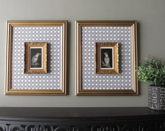 wall art gallery - Antiquity and Contemporary-  wall collage - vintage frames