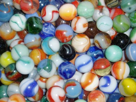 100 Antique Marbles 1920 S 1950 S Peltier Akro