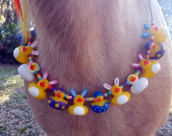 Clearance: Rabbit Rubber Ducky Equine Necklace for Easter -- Necklace for Minis, Ponies, Riding Horses, or Draft Horses