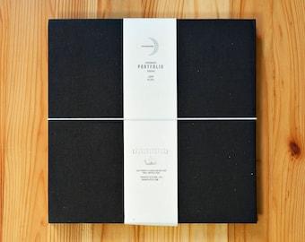 Portfolio Square NEW COLORS   Leporello photo album, black cardboard, square