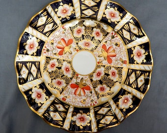 A Royal Crown Derby, 'Traditional Imari', Fluted Plate (26cms)