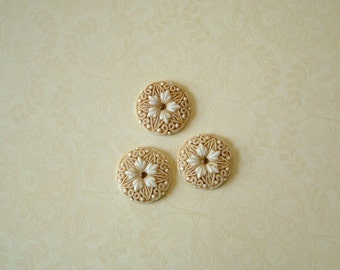 White Star Flower set of 3