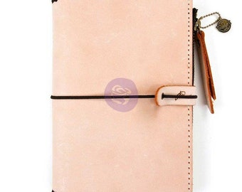 "Prima Traveler's PTJ Leather Essential Journal PEACH 5"" X 7.25"" Personal #630348"