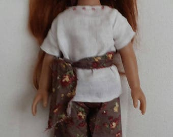 Spring doll outfit linen