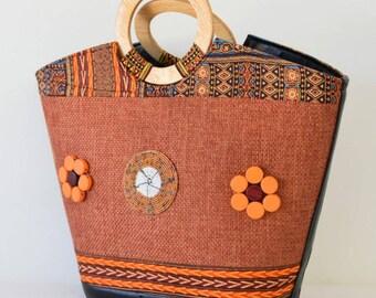 Afrix flower Handbag