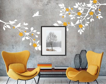 "01394 ""Spring colors"" Wall Stickers Decoration trees"