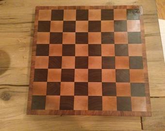 Maple and Walnut Chess Cutting Board