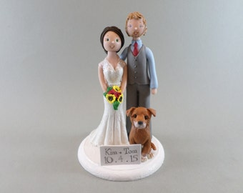 Bride & Groom Custom Wedding Cake Topper
