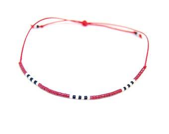 Shaman - Summer Cuff Bracelet, orange tassel