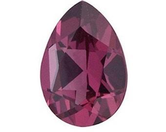 Genuine Natural Rhodolite Garnet AAA Pear Loose Gemstones (4x3mm - 10x7mm)
