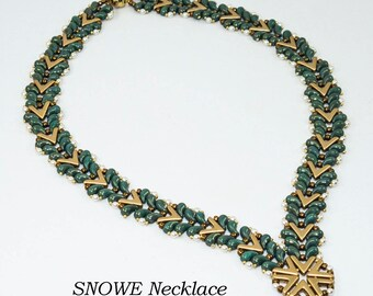 SNOWE Zoliduo and AVA Beadwork Necklace Pdf tutorial instructions for personal use only