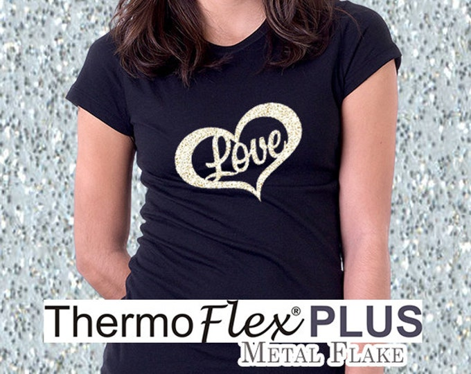 "9""x 15"" / 1-sheet / ThermoFlex Plus METAL FLAKE - Heat Transfer Vinyl - HTV"