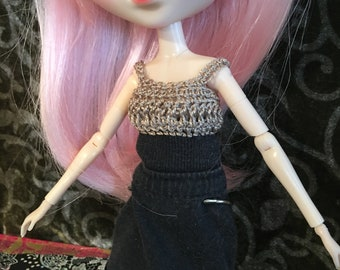 Pullip doll - Dress cotton lace and crochet