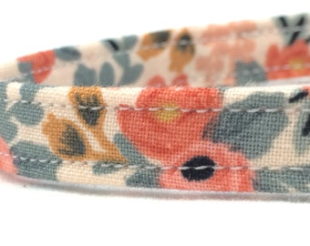 Rifle Paper Co. Cat Collar Les Fleurs Fabric Rosa Floral Peach