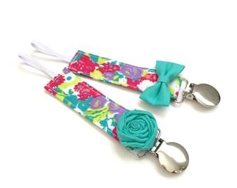 Pacifier Clip - Lush Floral
