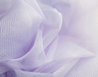 Pastel Lilac Light Purple Fine Tulle fabric 300cm wide - sold by the metre - net suitable for underskirt, veil, pleating & ruching UK SELLER