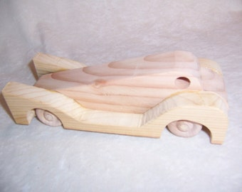 Toy Speedster Car, a Jumping Grasshopper Style Handmade for the Kids from Upcycled Wood