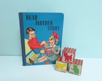 Read Another Story, a 1939 Children's Primer Reader with Illustrations in Color and Black & White by Carol Critchfield