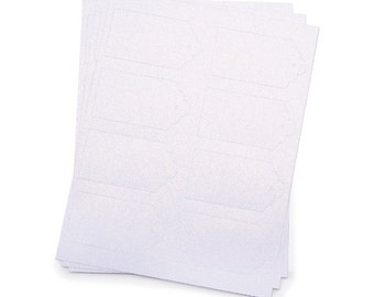 Core'dinations Glitter Prints Scallop Tags - White - 24 pieces