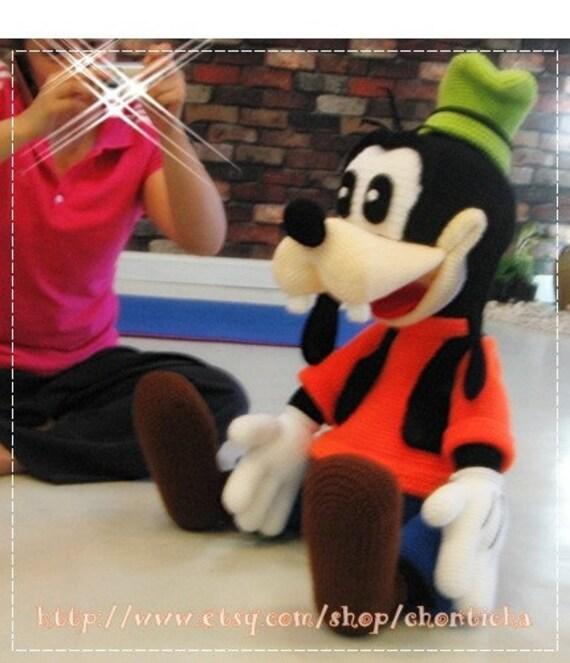 Goofy 40 Inches Pdf Amigurumi Crochet Pattern From Chontichadesign